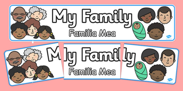 My Family Display Banner Romanian Translation - romanian, display banner