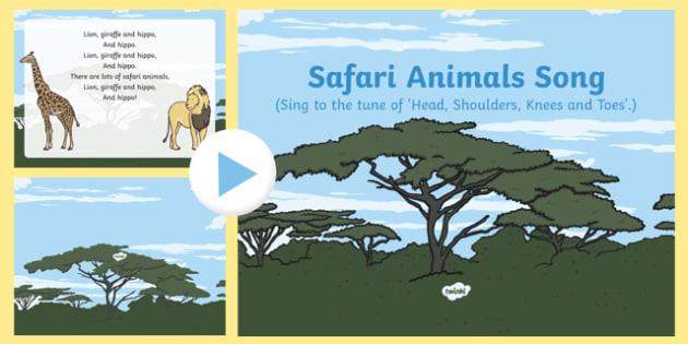 Safari Animals Song PowerPoint