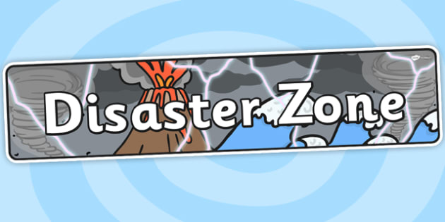 Disaster Zone Themed Banner - display, themed banner