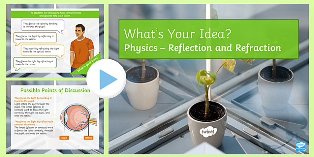 KS3 Reflection and Refraction What's Your Idea? PowerPoint
