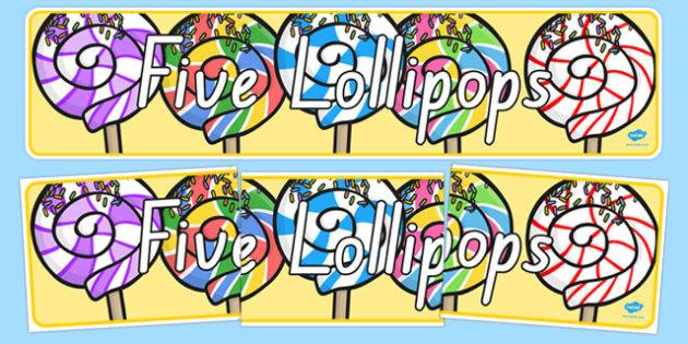 Five Lollipops Display Banner - nz, new zealand, five lollipops, display banner, display, banner