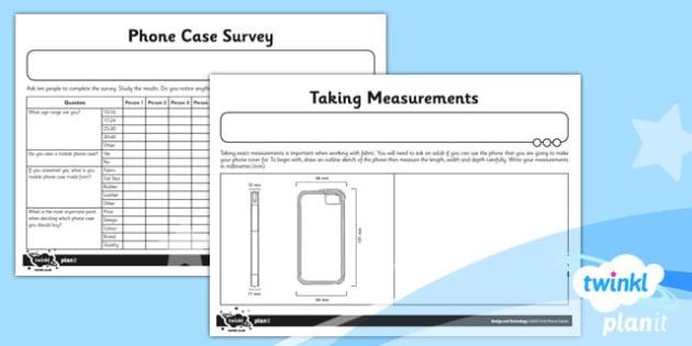 D&T: Felt Phone Cases UKS2 Unit Home Learning Tasks