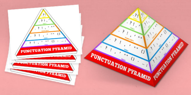 Punctuation Pyramid 3D New Curriculum - punctuation, pyramid, 3d