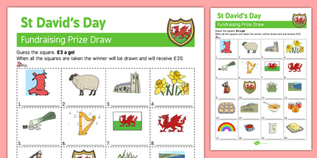 Elderly Care St David's Day Fundraising Sheet - Elderly, Reminiscence, Care Homes, St. David's Day