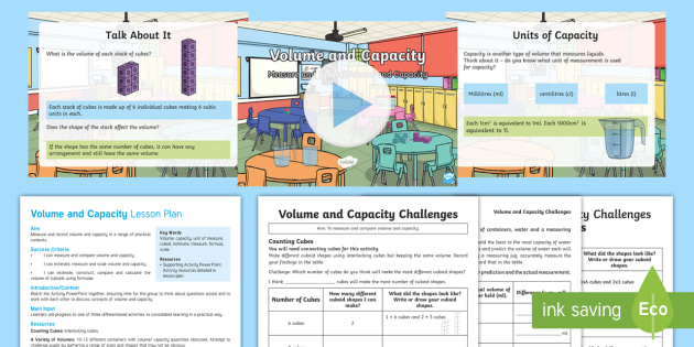 KS2 Volume and Capacity Activity Pack - KS2, Key Stage Two, Key Stage 2