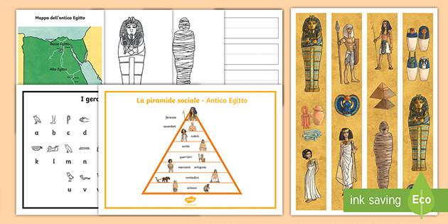 Cartina Dell Antico Egitto Da Colorare.Lapbook Di Storia Gli Antichi Egizi Scuola Primaria