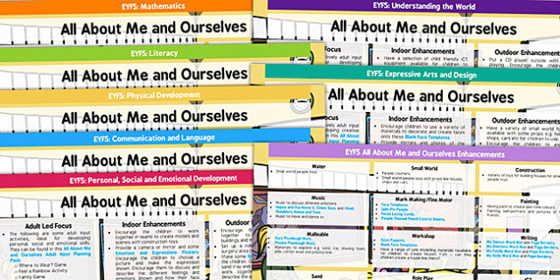 EYFS All About Me and Ourselves Lesson Plan and Enhancement Ideas - ourselves, lesson plan, EYFS, planning