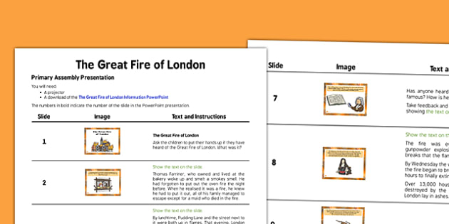 Great Fire of London Assembly - great fire of london, assembly