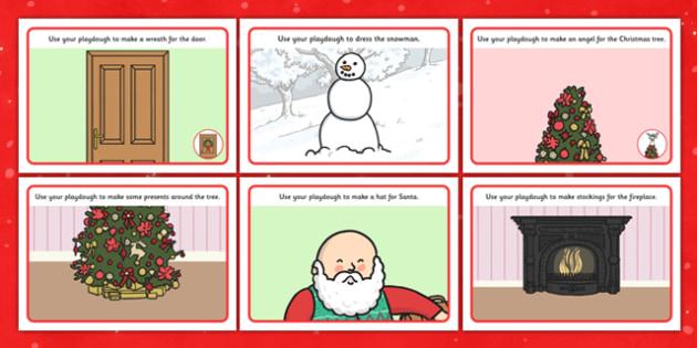 Christmas Playdough Mats - Christmas, xmas, playdough, mat, tree, advent, nativity, santa, father christmas, Jesus, tree, stocking, present, activity, cracker, angel, snowman, advent , bauble