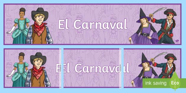 Carnival Display Banner - Spanish - Carnival, Spanish, KS2, banner, display