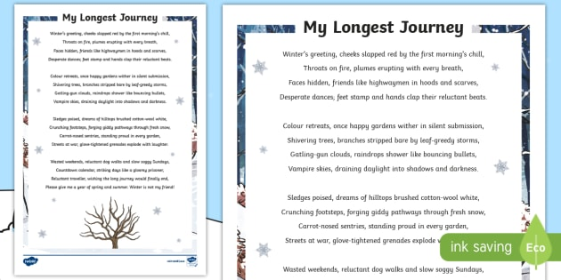 ks2 my longest journey poem poem winter poem poetry highwaymen snow. Black Bedroom Furniture Sets. Home Design Ideas