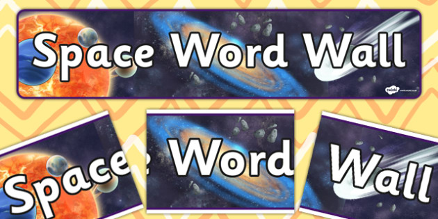 Space Word Wall Banner - banners, display, displays, visual aids