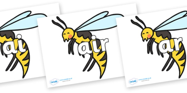 Phase 3 Phonemes on Wasps - Phonemes, phoneme, Phase 3, Phase three, Foundation, Literacy, Letters and Sounds, DfES, display