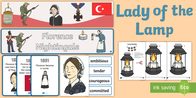Florence Nightingale Display Pack - florence nightingale, display pack, display banner, resource pack, display lettering, resources, classroom display