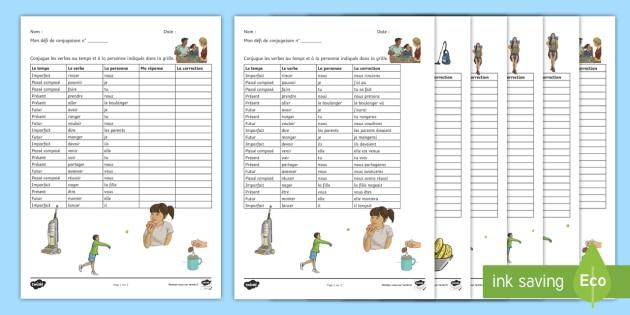Pack De Ressources Conjugaison De Verbes Cles
