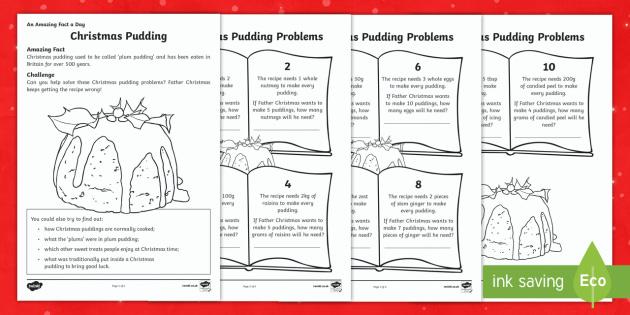 Christmas Pudding Worksheet Activity Sheet Christmas