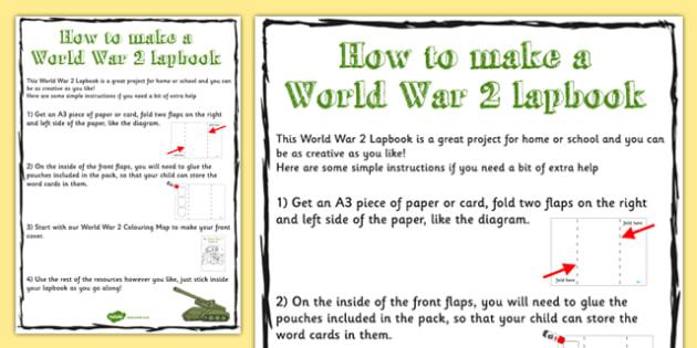 World War Two Lapbook Instructions - lapbook, instructions, ww2