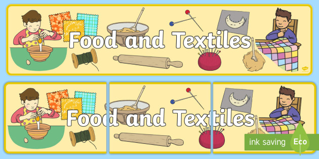 Food and Textiles Display Banner CfE - display, banner, cfe