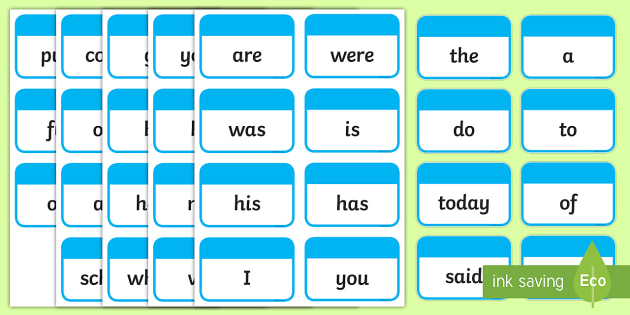 flash cards blue