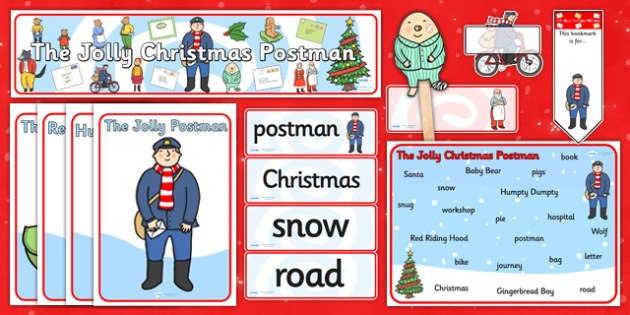 Story Sack to Support Teaching on The Jolly Christmas Postman - story books, books