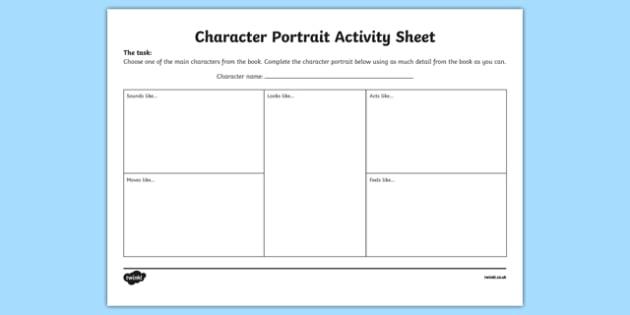 Character Portrait Activity Sheet-Irish, worksheet