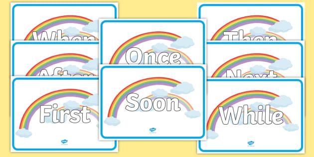 Sentence Openers on Rainbows - literacy, sentences, rainbow