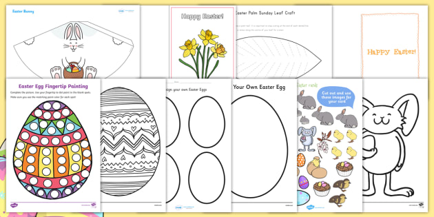 Easter Art And Craft Activity Pack Easter Lent Craft