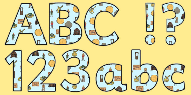 Anglo Saxons Lowercase Display Lettering Anglo Saxons