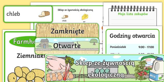 Zestaw materiałów Sklep ekologiczny po polsku