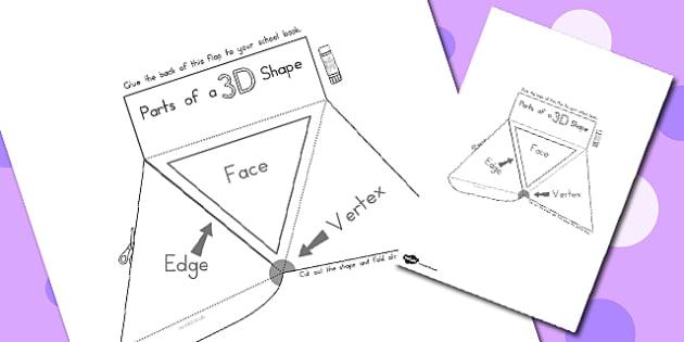 Parts of a 3D Shape Interactive Visual Aid - australia, 3d, shape