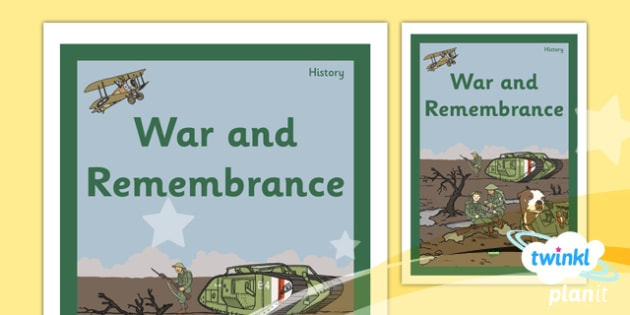 History: War and Remembrance KS1 Unit Book Cover