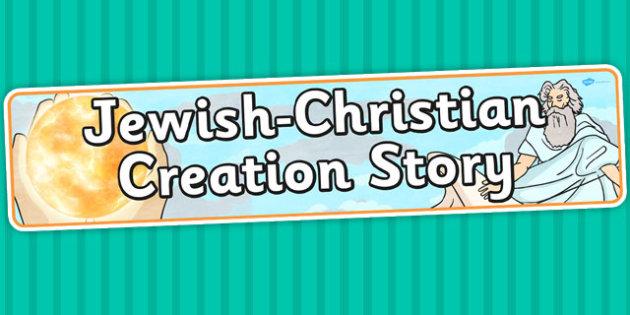 Jewish Christian Creation Story Display Banner - religion, header
