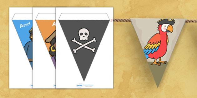 Pirate Display Bunting - pirates bunting, pirate bunting, pirates, pirate display, bunting, display bunting, bunting flags, cut out bunting, paper bunting