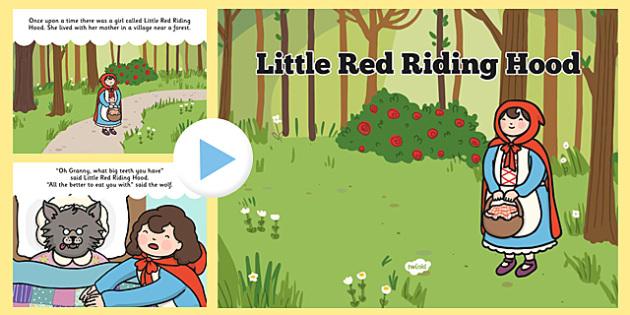 Little Red Riding Hood Story Powerpoint Teacher Made