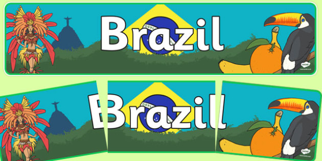 Brazil Display Banner - Brazil, Olympics, Olympic Games, sports, Olympic, London, 2012, display, banner, sign, poster, activity, Olympic torch, flag, countries, medal, Olympic Rings, mascots, flame, compete, events, tennis, athlete, swimming