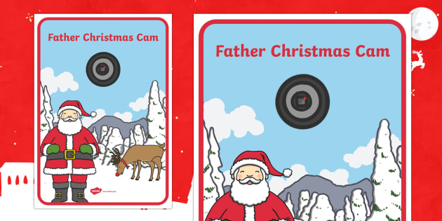 Father Christmas Cam Display Poster - Christmas, Nativity, Jesus, xmas, Xmas, Father Christmas, Santa, St Nic, Saint Nicholas, traditions,