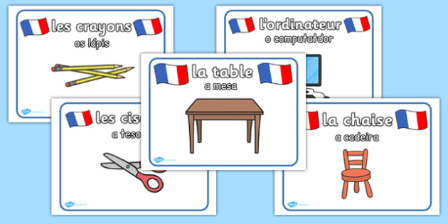 French Classroom Posters Portuguese Translation - portuguese, classroom, posters, display, display posters