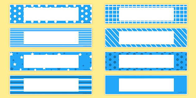 Gratnells Tray Labels Blue - gratnells, labels, blue, trays