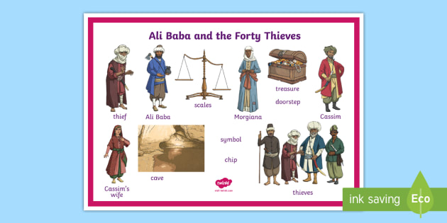 Ali Baba And The Forty Thieves Word Mat Teacher Made