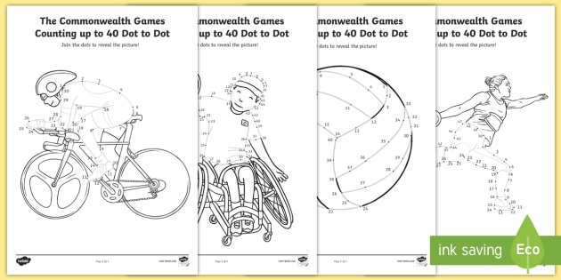 * NEW * KS1 The Commonwealth Games Counting Up To 50 Dot
