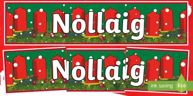 CfE Christmas Display Banner (Scottish Gaelic) Display Banner-Scottish