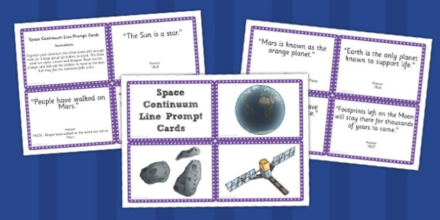 Space Continuum Line Prompt Cards - prompt, cards, continuum