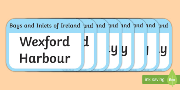 Bays and Inlets of Ireland Flashcards-Irish