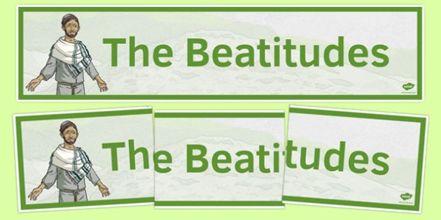 Beatitudes Banner - irish, gaeilge, Beatitudes, Banner, Display, Christianity