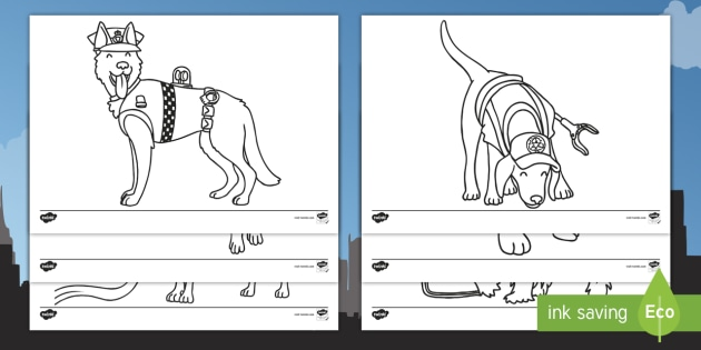 Superhero Dogs Colouring Pages