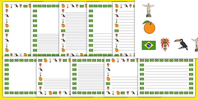 Brazil Page Borders - football, world cup, countries, geography