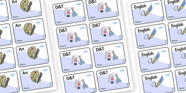 Dolphin Themed Editable Book Labels - Themed Book label, label, subject labels, exercise book, workbook labels, textbook labels