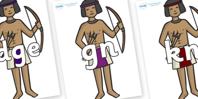 Silent Letters on Egyptian Archers - Silent Letters, silent letter, letter blend, consonant, consonants, digraph, trigraph, A-Z letters, literacy, alphabet, letters, alternative sounds
