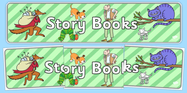 Story Books Display Banner - display banner, display, banner, story books, story, books, reading, read