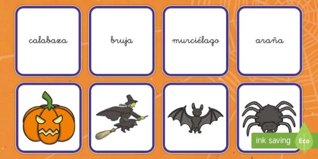 Halloween Tarjetas de emparejar